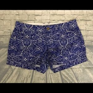 Old Navy Womens Blue White  Flower Print Shorts